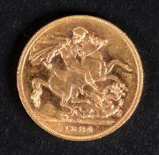 A Queen Victoria sovereign, 1884, Melbou