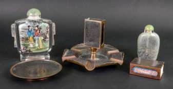 Two Chinese glass snuff bottles, 20th ce