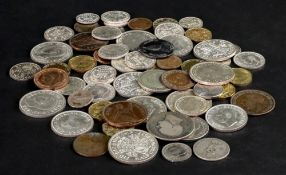 A collection of George VI coinage, some