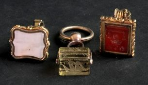 A collection of three 19th Century gilt