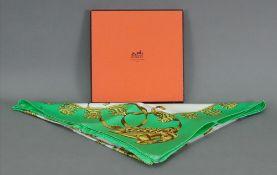 "Hermes scarf ""Les Cavaliers D'or"", 90 x"