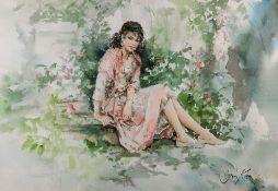 Gordon King (British, b. 1939), A girl s
