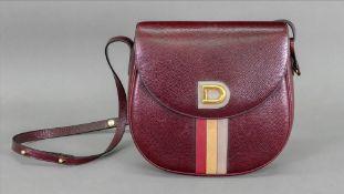 Delvaux burgundy leather shoulder bag.