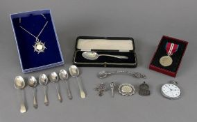 A child's cased silver spoon, Birmingham