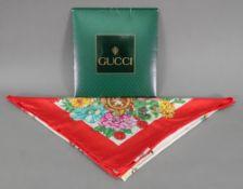 Gucci scarf, 88 x 88cm, in card sleeve.