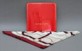 Cartier scarf, 84 x 84cm, in card sleeve.