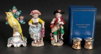 A pair of Sitzendorf porcelain figures o