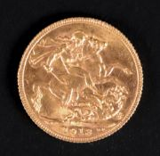 A George V sovereign, 1913.