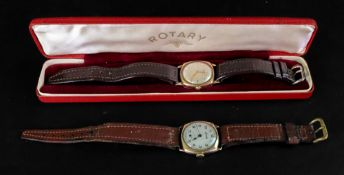 Rotary: a gentleman's 9ct gold cased wri