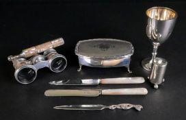 An Art Deco silver jewel casket, J Glost