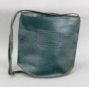 Delvaux green leather shoulder bag.