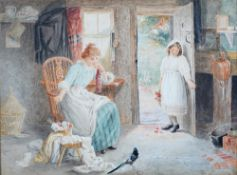 Haynes King (British, 1831-1904), An Unexpected Visitor, signed and dated '1884',