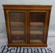 A 19th century mahogany side cabinet on plinth base, 102cm wide x 107cm high.