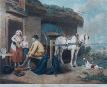 After James Ward, A Cottager Going to Market, engraving published 1800, 43 x 55cm,