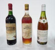 Three bottles of wine,