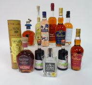 Box 9 - Mixed Spirits Lemoncello Distillers selection Irish single Malt Mahiki coconut Rum