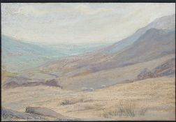 Mary Yates (British, 1891-?), Windermere from Red Screes, signed with cipher,