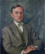 English School, 20th Century, Portrait of a gentleman,