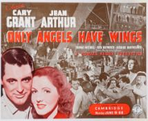 Vintage film poster 'Only Angels Have Wings' dated June 15th 1939, laid to linen, rolled,