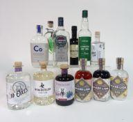 Box 75 - Gin Cobalto-17 Gin Square Mountains Gin London Hill Gin Harrison Gin Waitrose Gin Brass