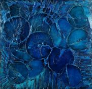 Richard Price, 20th Century, Abstract in blue, signed and dated 'Richard Price 1972' (lower right),