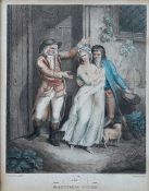 After Francis Wheatley, The Relentless Father; The Tender Father, a pair, engravings by Gardiner,