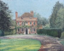 E Oldfield (British, 20th Century), The Old Rectory, Sulhamstead, Berkshire, signed, oil on canvas,