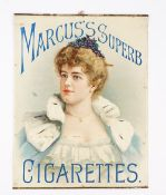Smoking memorabillia; a group of three early 20th century cigarette advertising posters,
