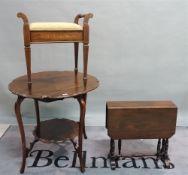 An Edwardian mahogany centre table, 75cm diameter x 70cm high,
