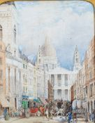 Follower of John Charles Maggs, Ludgate Hill and St Paul's Cathedral,