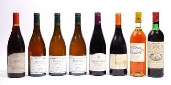 Mixed French wines, comprising; 1970 Chateau de Camensac, 2005 Chambolle-Musigny, 2000 Minervois,
