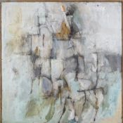 20th Century School, Untitled abstract, oil on board, 91 x 91cm.