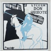 Beggarstaff Brothers, 20th Century, Don Quixote, lithograph, 49 x 49cm.
