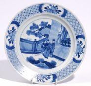 A Chinese blue and white plate in Kangxi style,