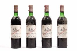 Four bottles of 1970 Chateau Baychevelle, St Julien, (4).