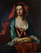 After William Hogarth, Portrait of the Irish Actress Peg Woffington, bears initials,