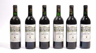 Six bottles of 1990 Chateau Leoville Barton.