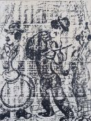 After Marc Chagall, The Wandering Musicians, lithograph, 31 x 23.5cm.