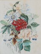 English School, 19th Century, A study of flowers, watercolour, 32 x 25cm,