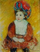 Studio of Miguel Canals (20th Century), After Mary Cassatt, Portrait of a child,