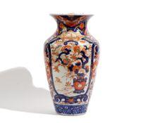A tall Japanese Imari vase, Meiji period,