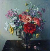 Vernon de Beauvoir Ward (British, 1905-1985), Still life of flowers in a vase,