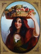 Thomas Jones Barker (British, 1815-1882), The Fruit Carrier, signed, oil on canvas,