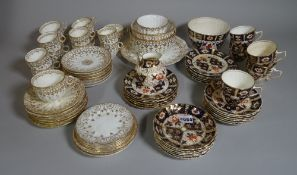 Ceramics including 'Pendant' part tea service with gilt decoration and a blue and white tea service.