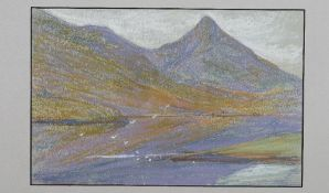 Mary Yates (British, 1891-?), Loch Lomond, signed with cipher, titled and dated '1943' (lower left),