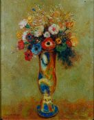 Studio of Miguel Canals (20th Century), After Odilon Redon, Vase of flowers,