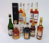 Box 4 - Mixed Spirits Stara Sokolova plum Brandy Doppelkorn grain spirit Ognjena plum Brandy