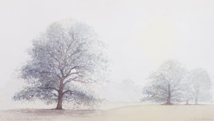 John Miller (British, 20th Century), Trees in a landscape, Berkshire,