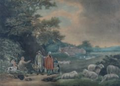 After George Morland, The Shepherds, engraving by William Ward, published by R Lambe 1813, 43.