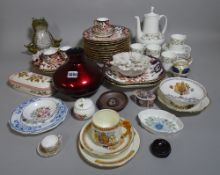 Ceramics; a quantity including Royal Crown Derby dinner wares, tea sets and sundry (qty).